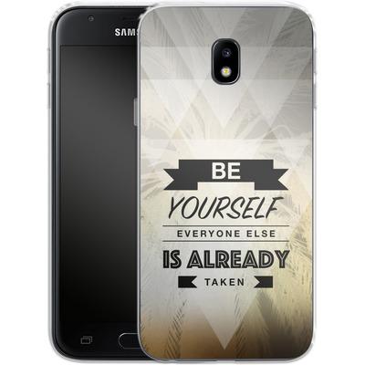 Samsung Galaxy J3 (2017) Silikon Handyhuelle - Be Yourself von Statements