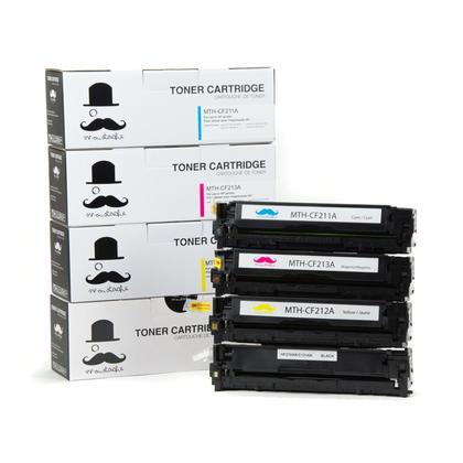 Compatible HP LaserJet Pro 200 Color M251NW Toner Cartridges BK/C/M/Y - Moustache