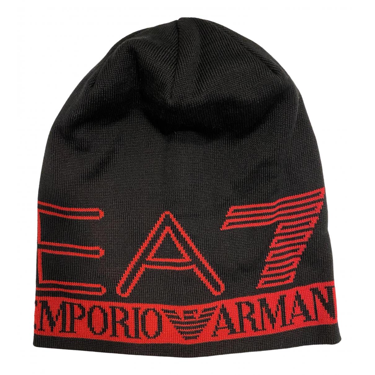 Emporio Armani \N Hut, Muetzen in  Schwarz Wolle