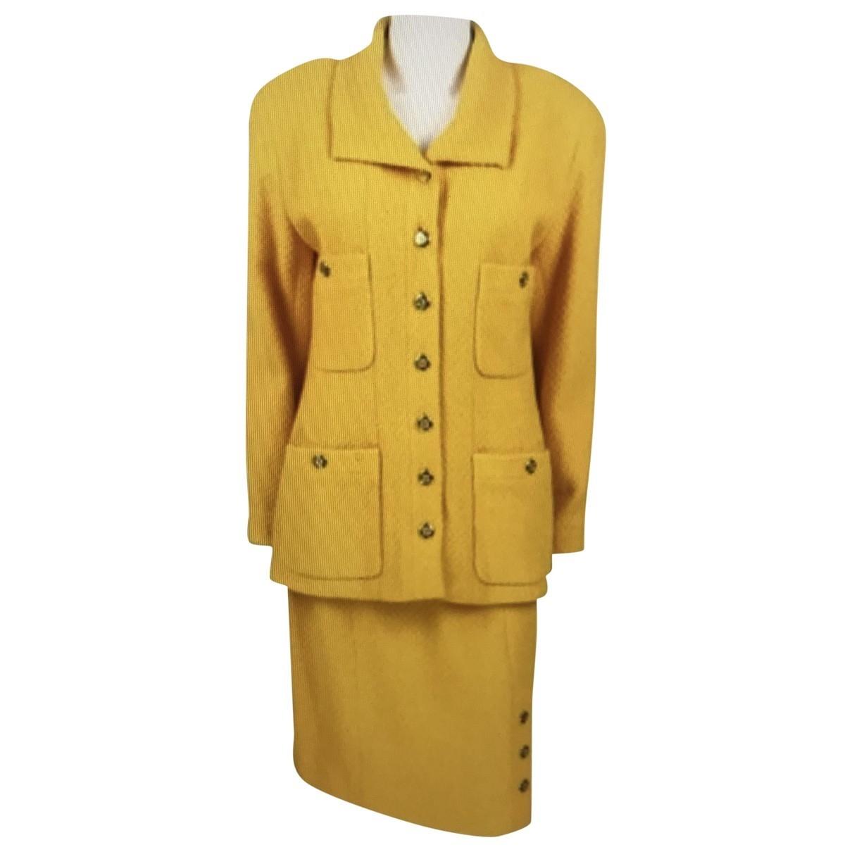 Chanel \N Rocke in  Gelb Wolle