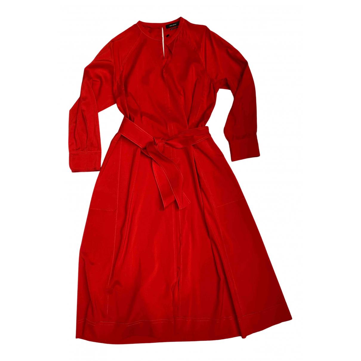 Isabel Marant N Red Silk dress for Women 42 FR