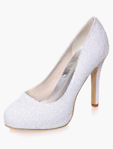 Milanoo Sequined Cloth Evening and Bridal Shoes