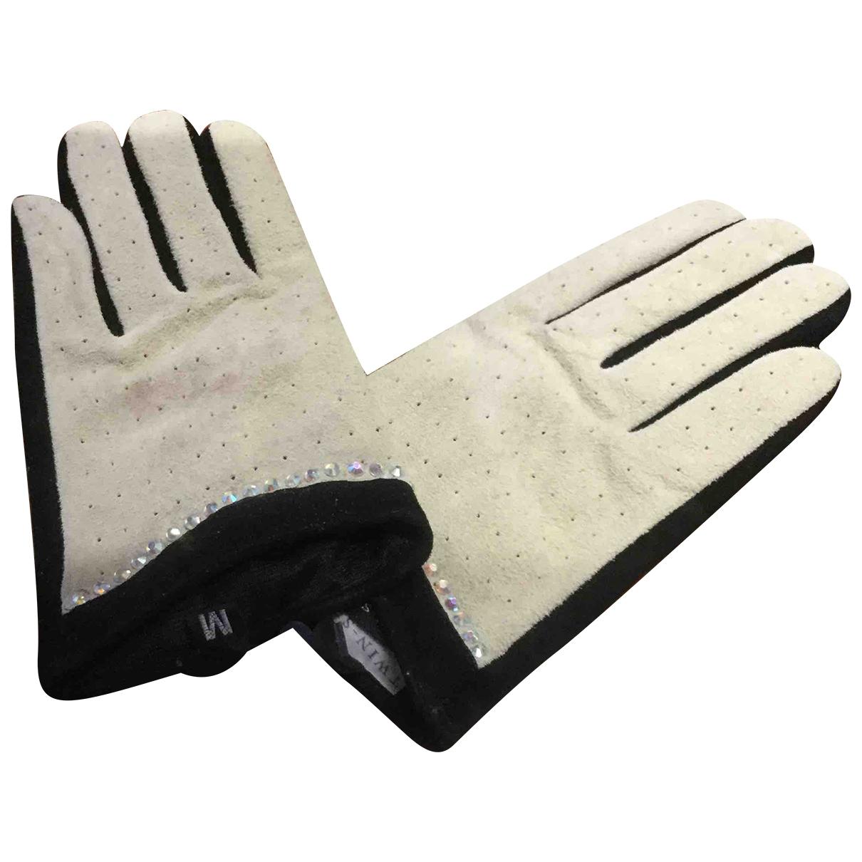 Twin Set \N Handschuhe in Veloursleder