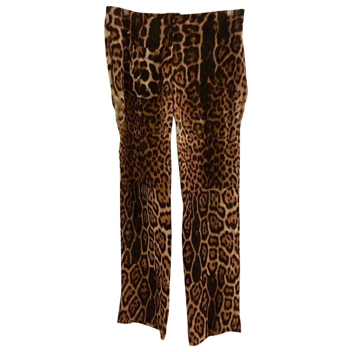 Yves Saint Laurent \N Silk Trousers for Women 40 FR