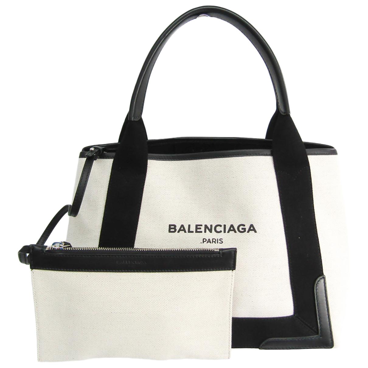 Balenciaga Navy cabas White Cloth handbag for Women \N