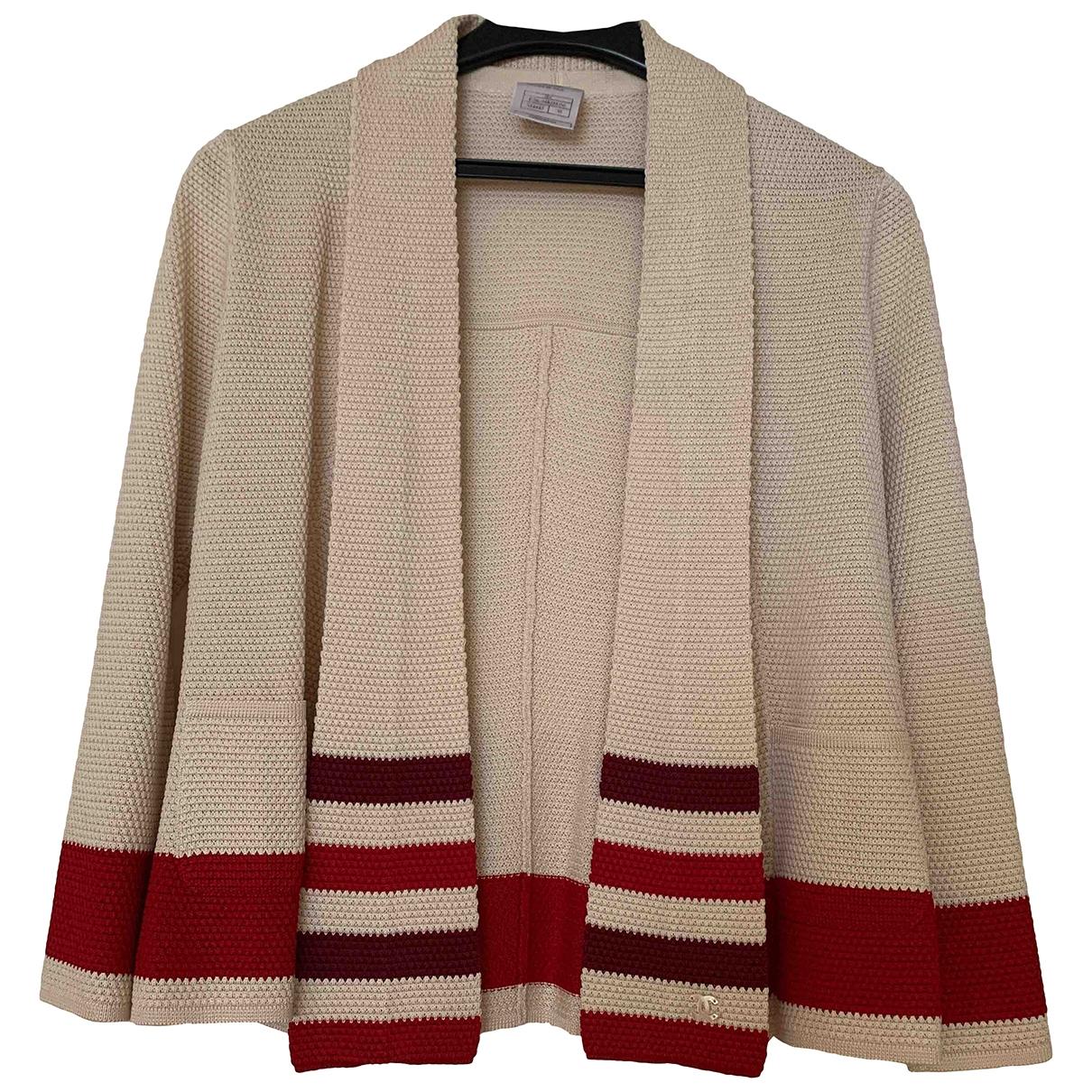 Chanel \N Beige Silk Knitwear for Women 38 FR