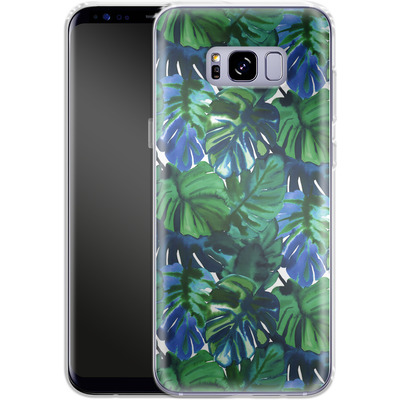 Samsung Galaxy S8 Plus Silikon Handyhuelle - Welcome to the Jungle Palm Deep von Amy Sia
