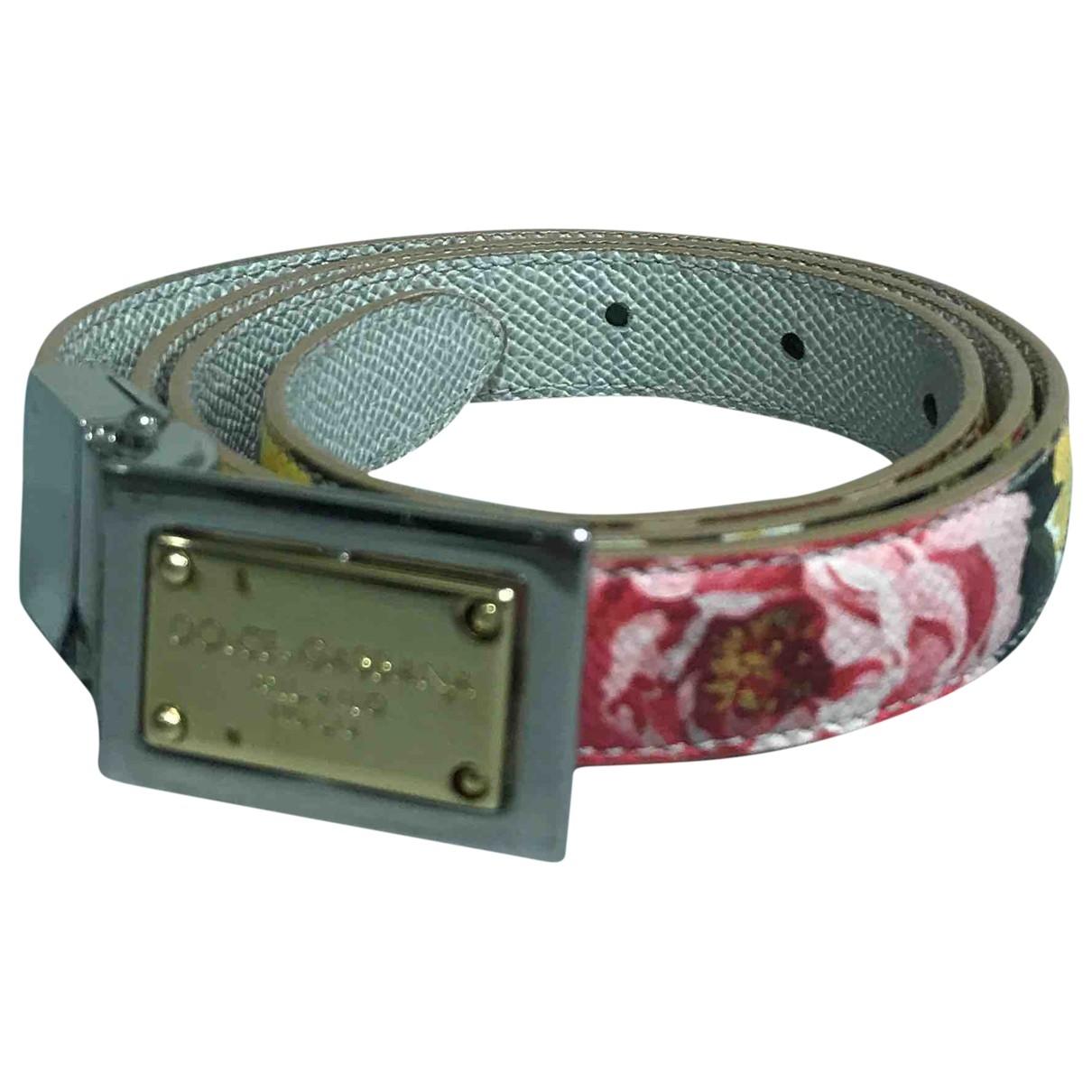 Dolce & Gabbana \N White Leather belt for Women 75 cm