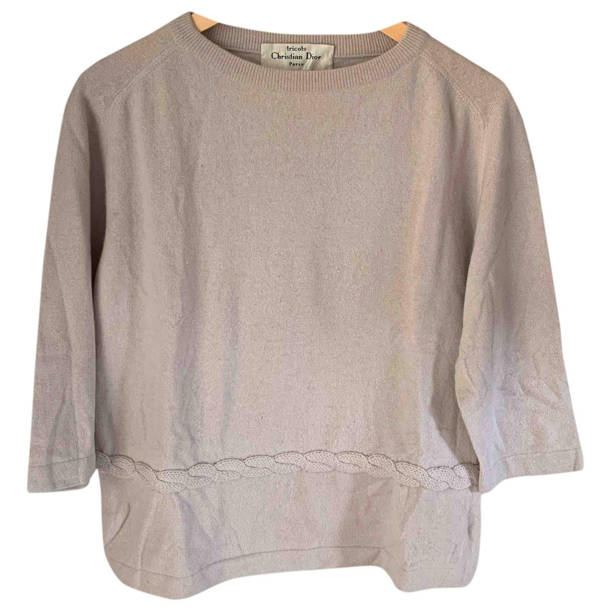Dior N Beige Wool Knitwear for Women 36 FR