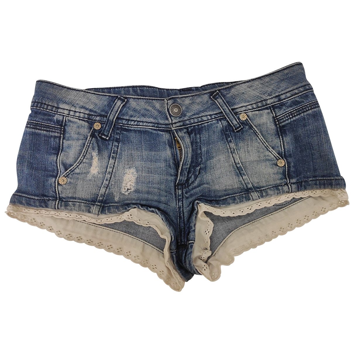 Benetton \N Shorts in  Blau Denim - Jeans