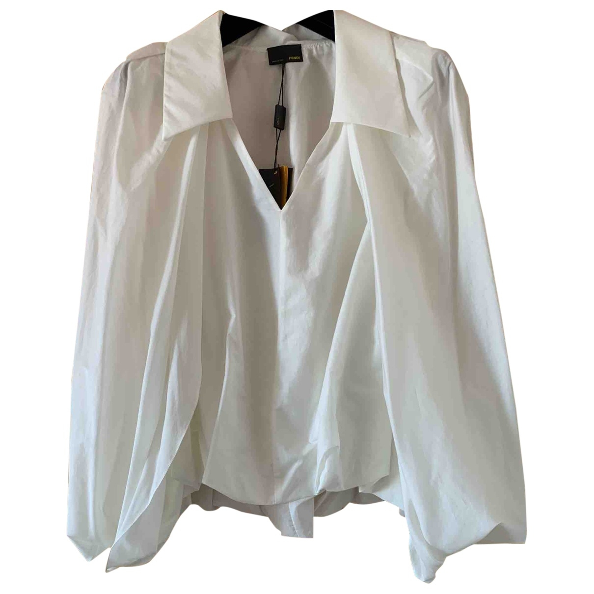 Fendi \N White Cotton  top for Women 38 IT