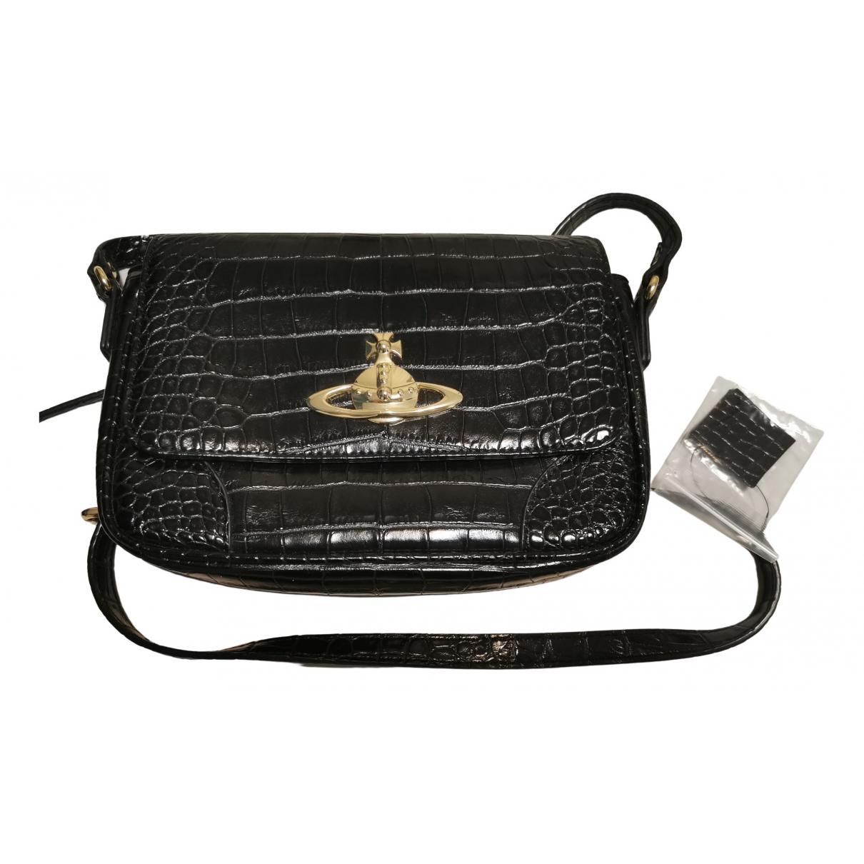 Vivienne Westwood Anglomania \N Handtasche in  Schwarz Leinen