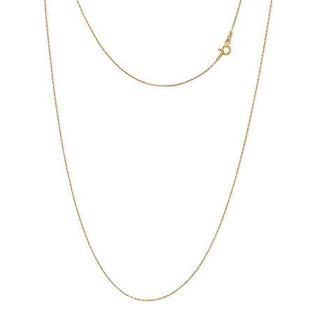 Made in Italy 24K Gold Over Silver Sterling Silver 18 Inch Solid Link Chain Necklace, One Size , No Color Family