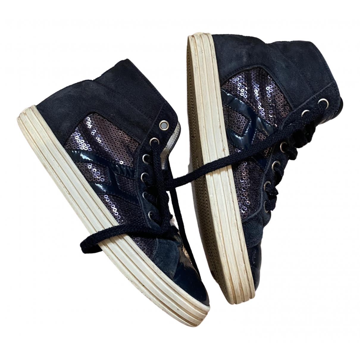 Hogan \N Sneakers in  Marine Mit Pailletten