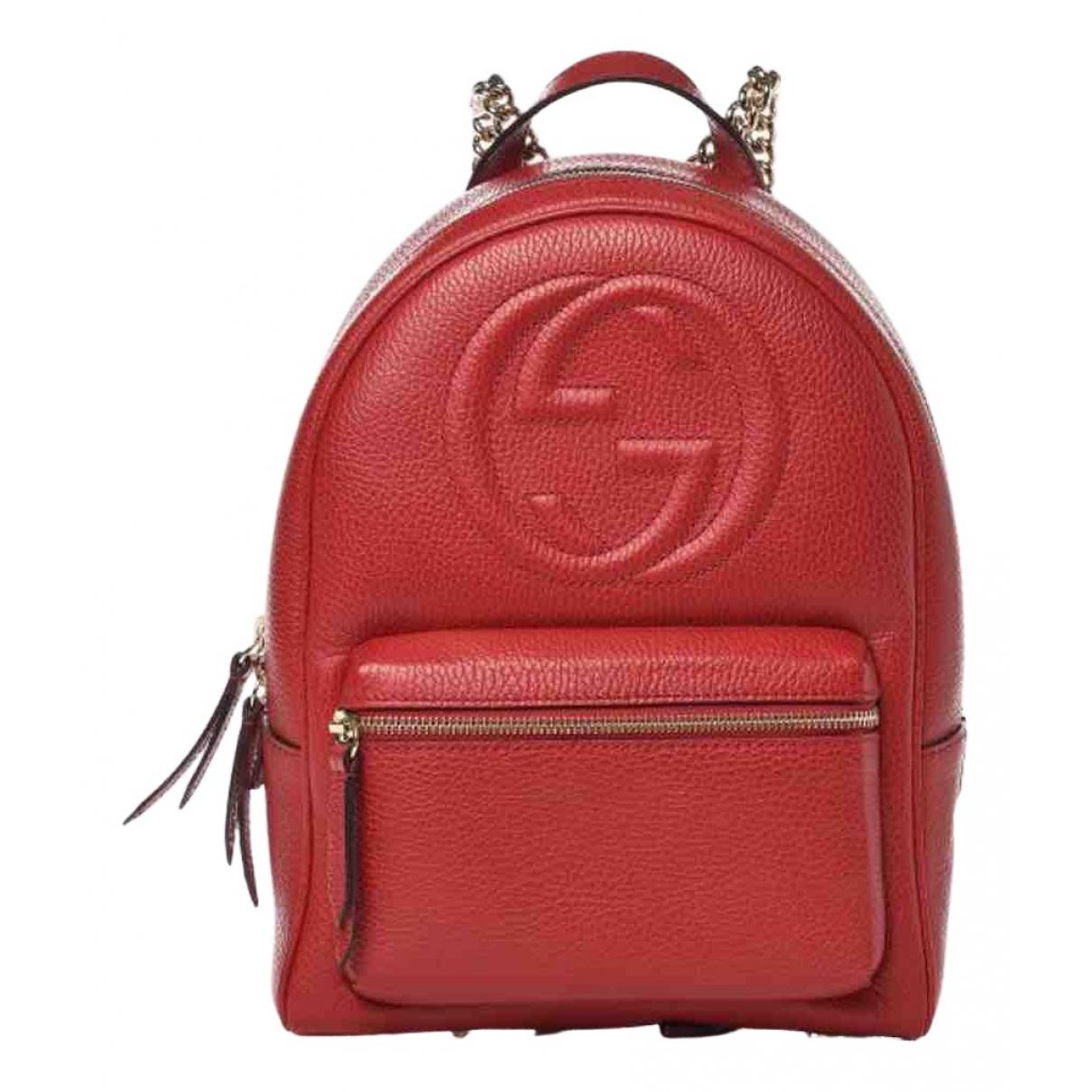 Gucci Soho Rucksaecke in  Rot Leder