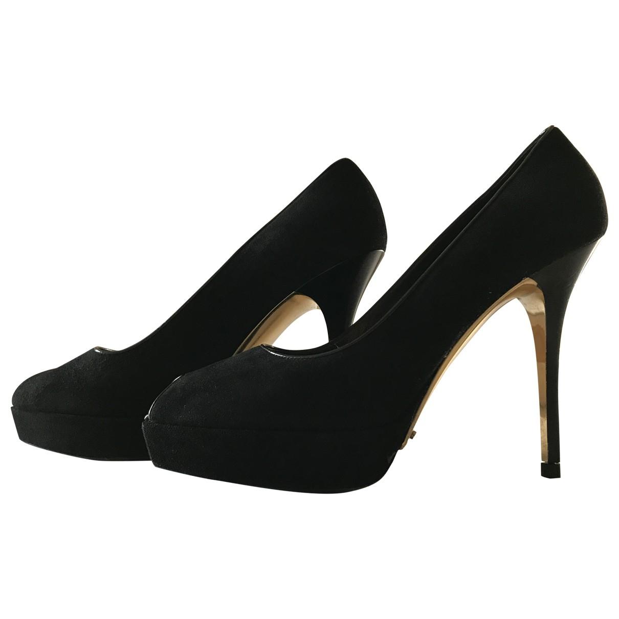 Louis Vuitton - Escarpins   pour femme en suede - noir