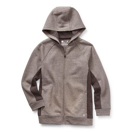 Xersion Cotton Fleece Little & Big Boys Hoodie, X-large (18-20) , Black