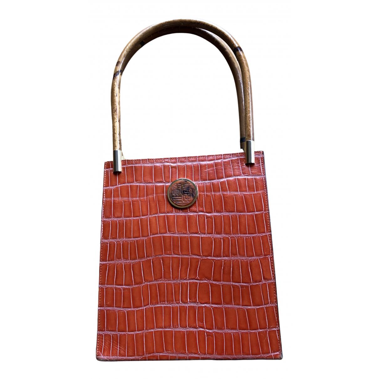 Kenzo \N Handtasche in  Orange Leder