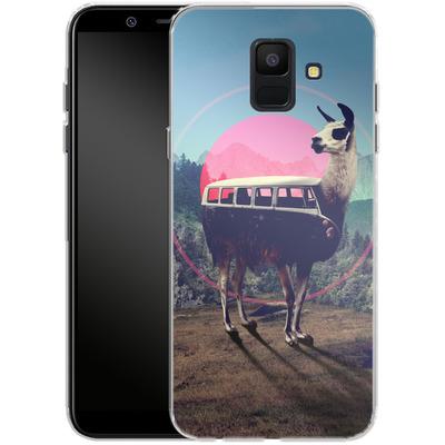Samsung Galaxy A6 Silikon Handyhuelle - Llama von Ali Gulec