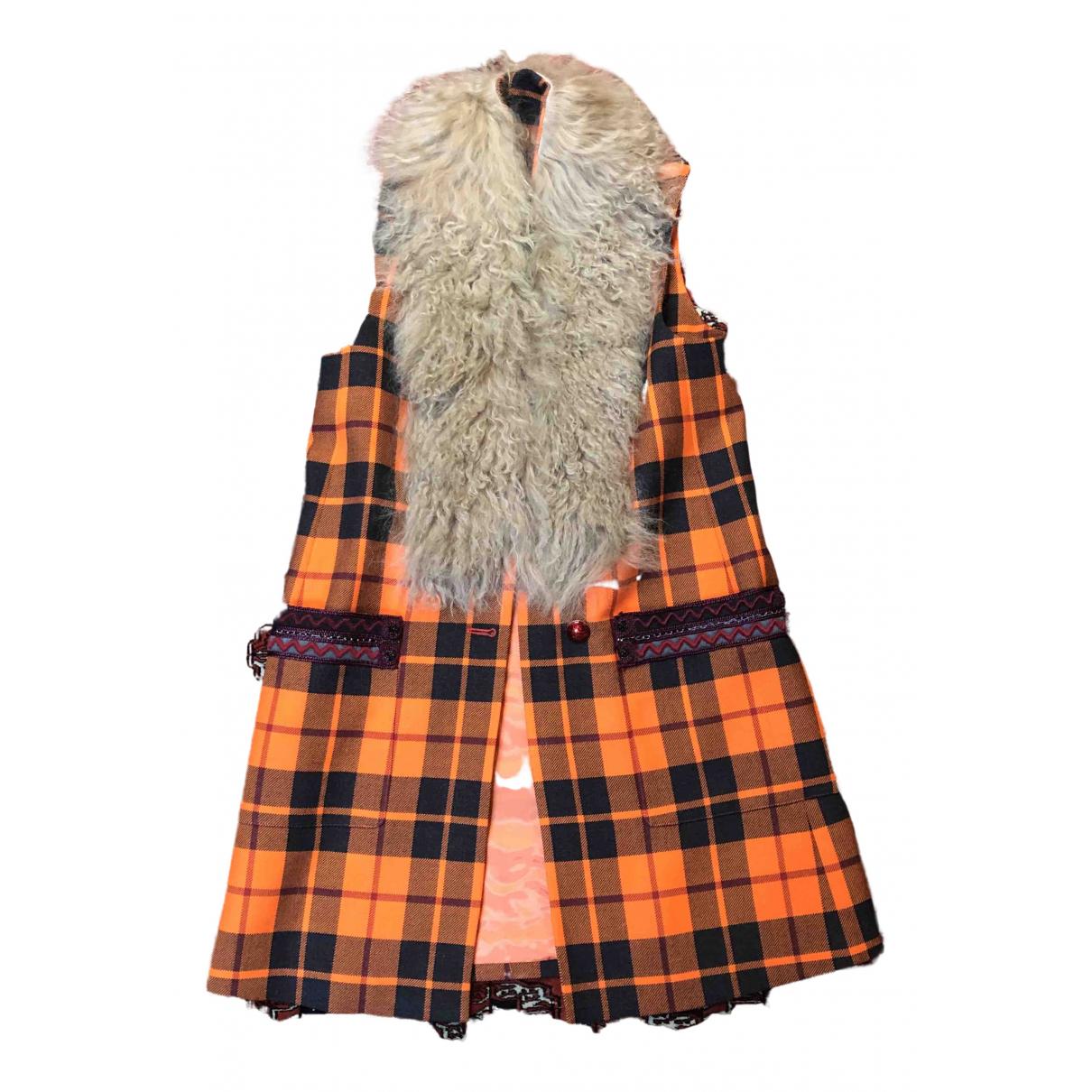 Etro - Manteau   pour femme en laine - orange