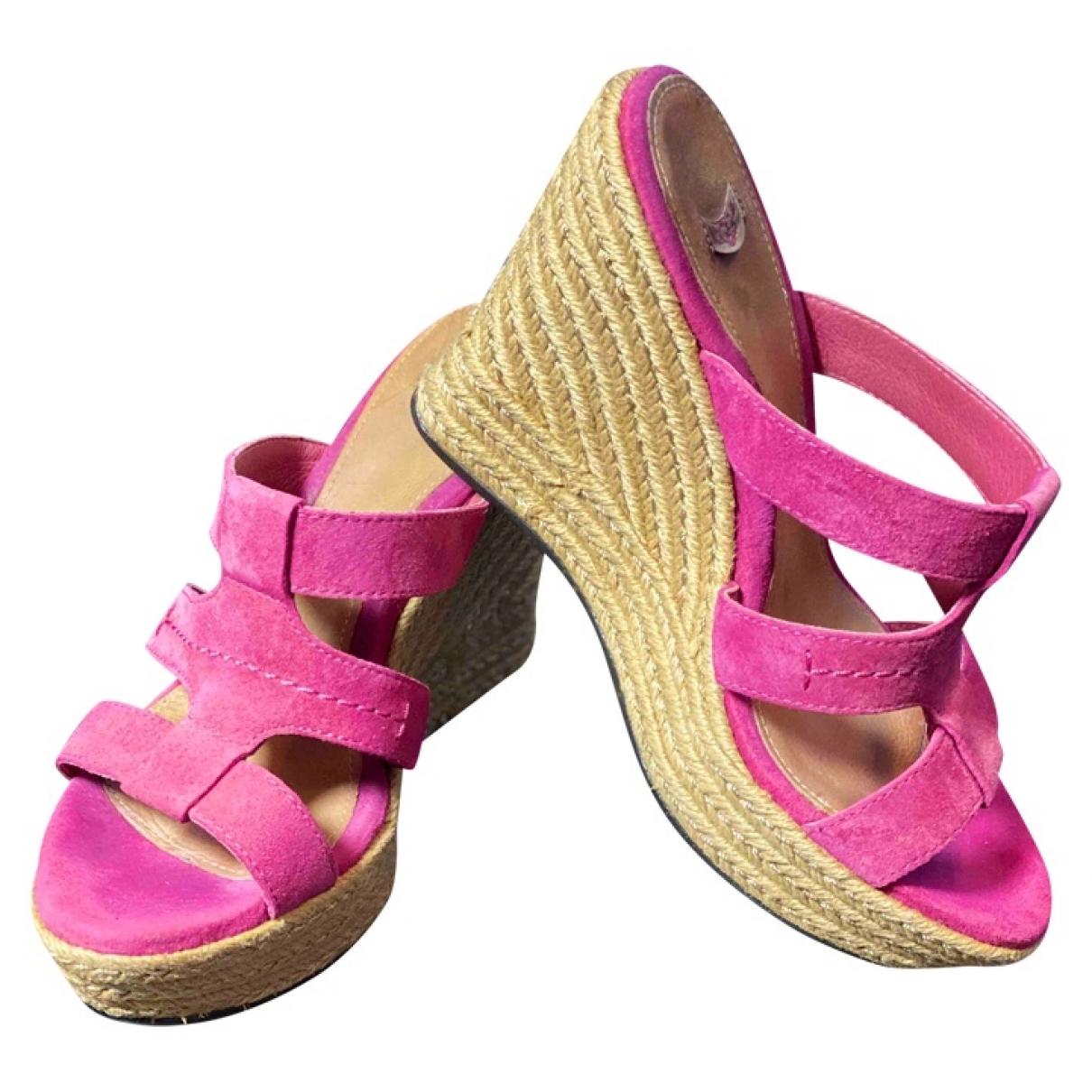 Ugg \N Pink Suede Sandals for Women 39 EU