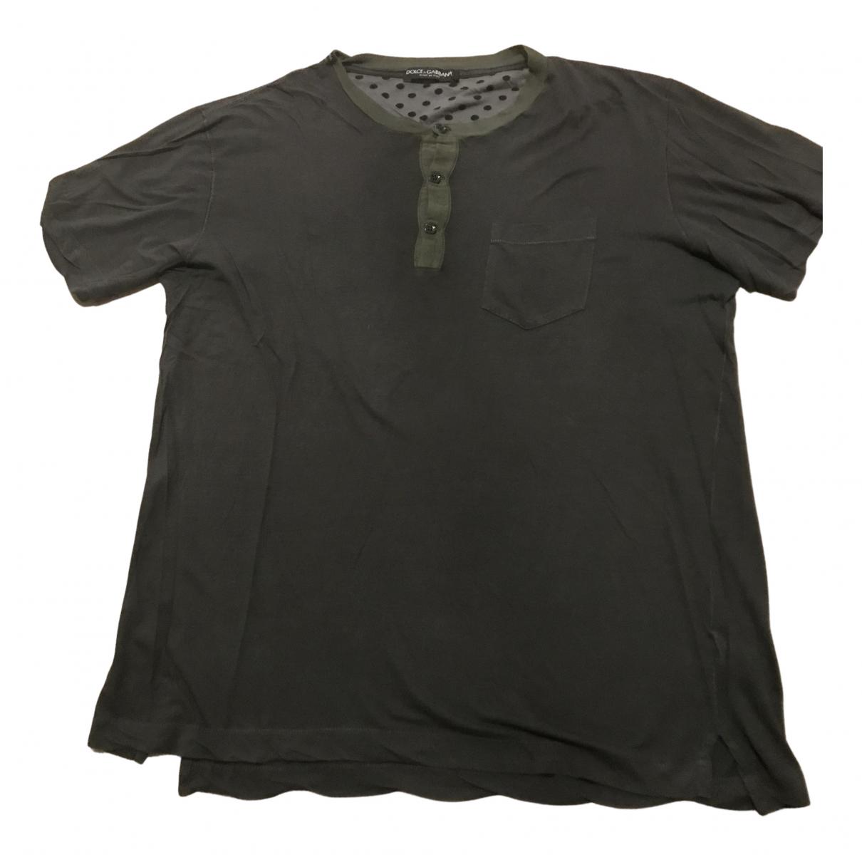 Dolce & Gabbana - Tee shirts   pour homme en coton - vert
