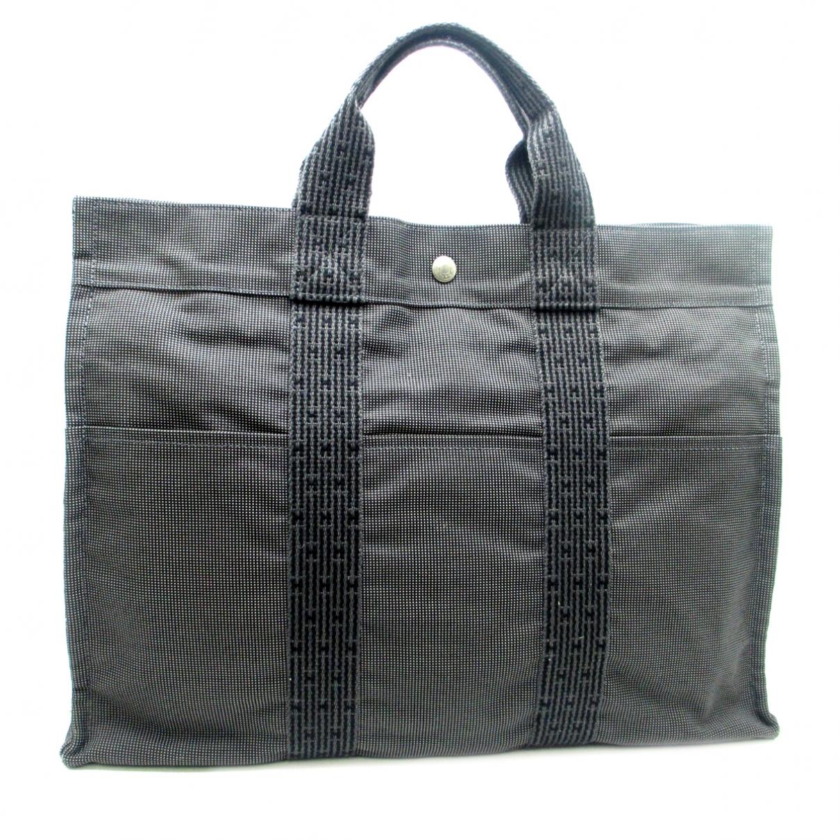 Hermès Herline Grey Cloth handbag for Women \N