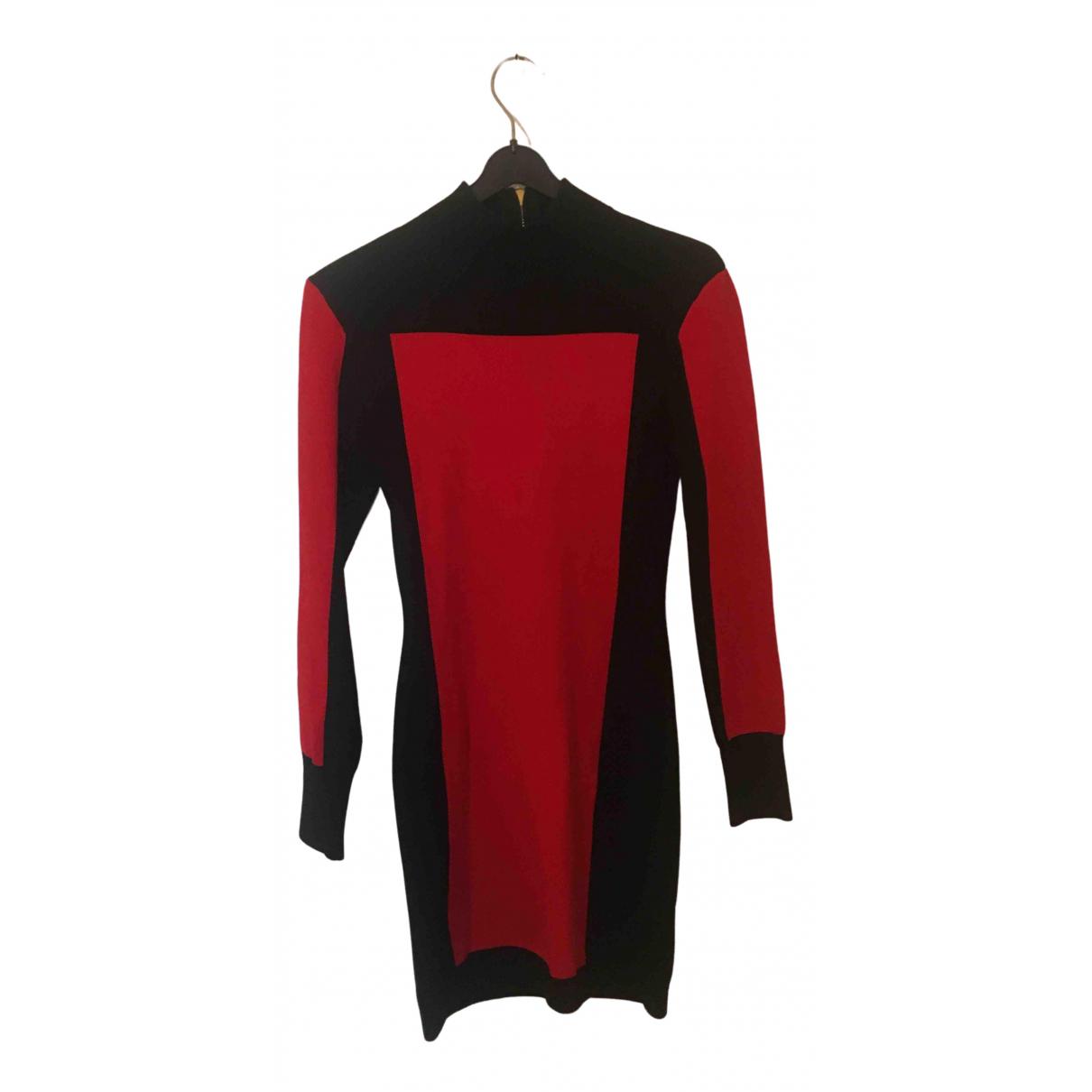 Balmain For H&m \N Kleid in  Rot Viskose