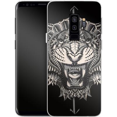 Samsung Galaxy S9 Plus Silikon Handyhuelle - Eye Of The Tiger von BIOWORKZ