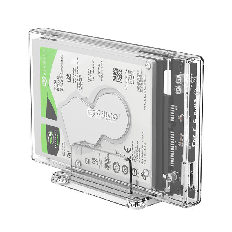 ORICO 2.5 inch Transparent USB3.0 Hard Drive Enclosure with StandPC Transparent Material SATA Mobile Hard DiskEnclos