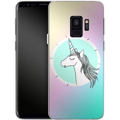Samsung Galaxy S9 Silikon Handyhuelle - Happiness Unicorn von caseable Designs