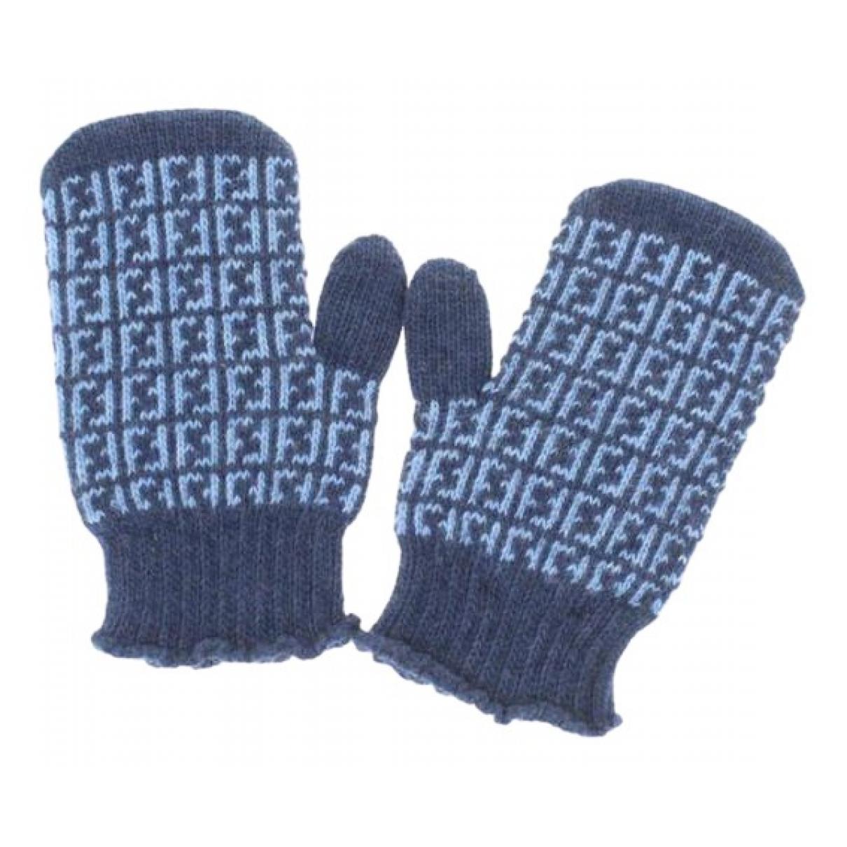 Fendi \N Hut, Muetzen, Handschuhe in  Blau Wolle