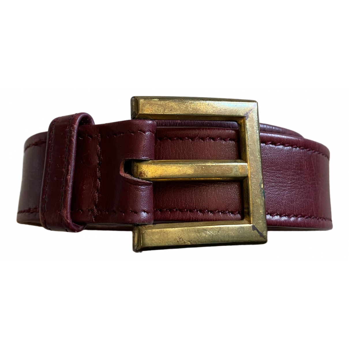 Hermès \N Burgundy Leather belt for Women M International