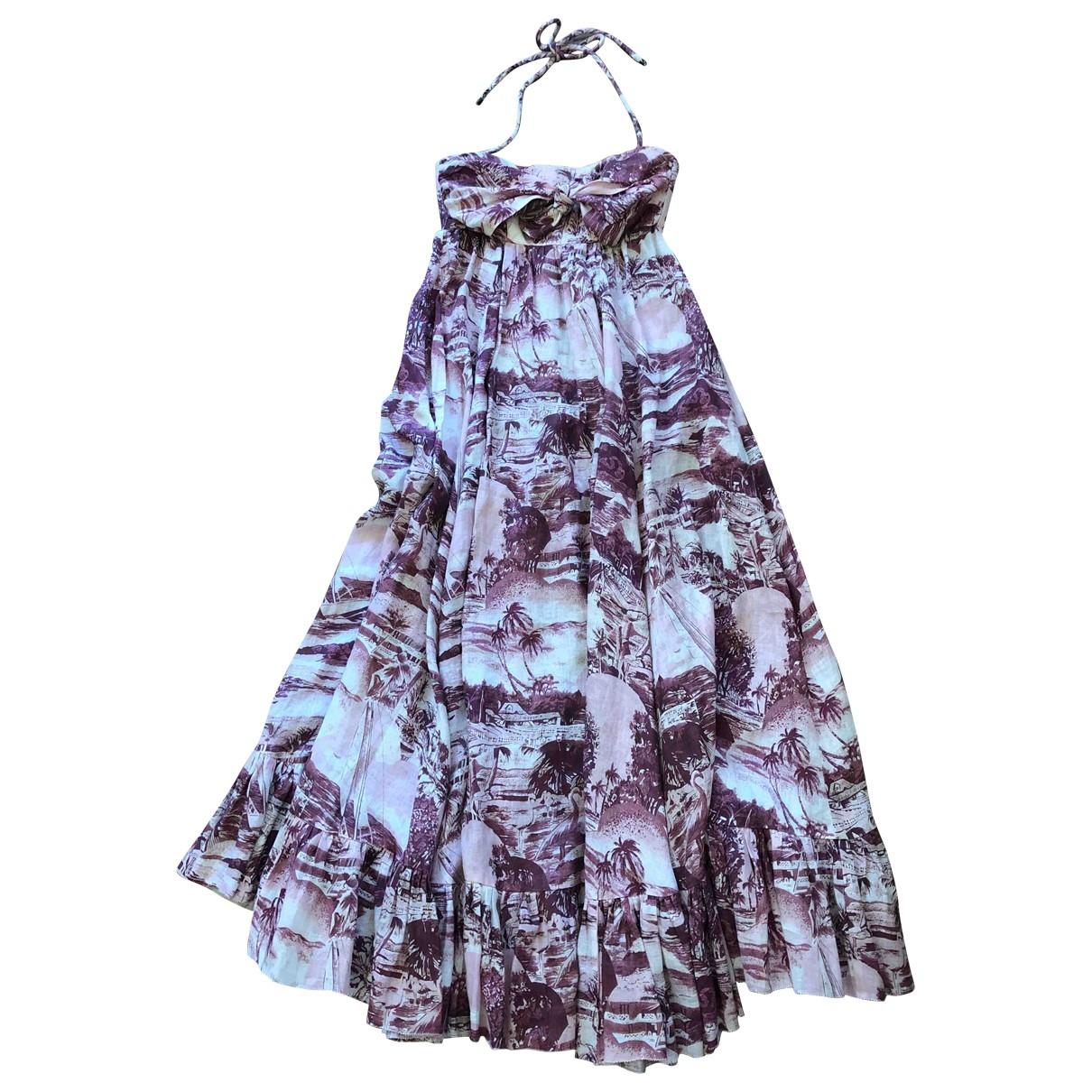 Zimmermann \N Pink Linen dress for Women 0 0-5
