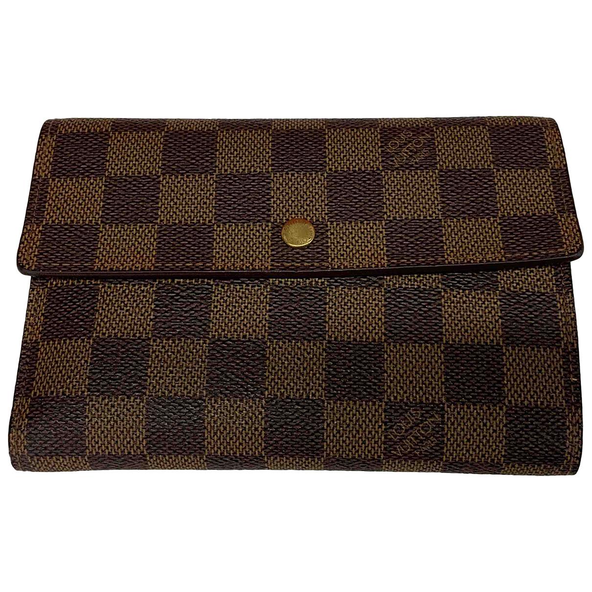 Louis Vuitton - Portefeuille Alexandra pour femme en toile - marron