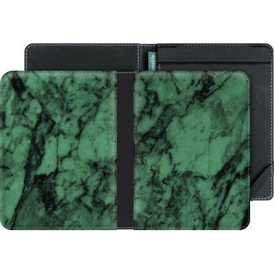 tolino vision 3 HD eBook Reader Huelle - Green Marble von caseable Designs
