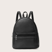Rucksack mit verziertem Dekor und Taschen vorn