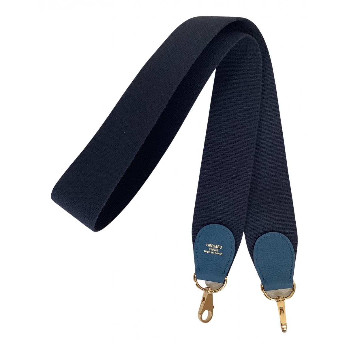 Hermes - Petite maroquinerie   pour femme en toile - bleu