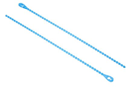 RS PRO Blue Polypropylene Releasable Cable Tie, 152.4mm x 2.4 mm