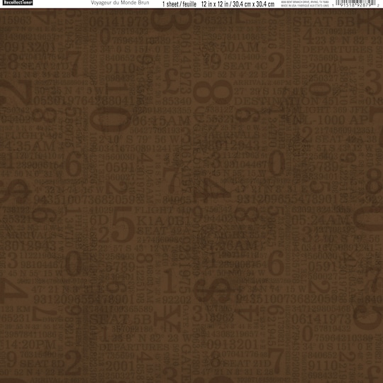 12 Pack of Brown Traveler Scrapbook Paper By Recollections®, 12