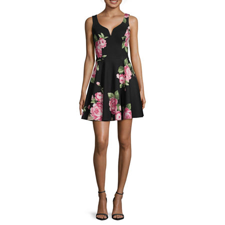 B. Smart-Juniors Sleeveless Fit & Flare Dress, 3 , Black