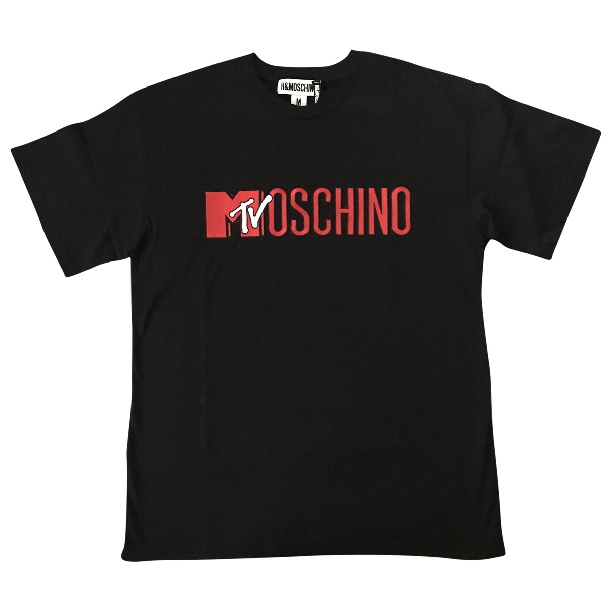 Moschino For H&m - Tee shirts   pour homme en coton - noir