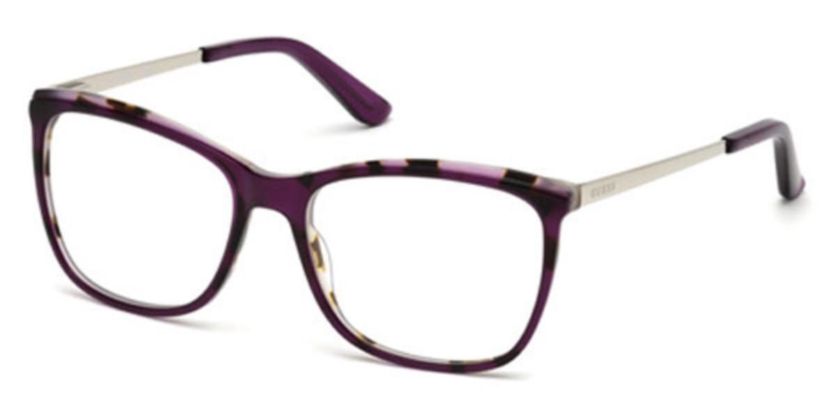 Guess GU 2641 083 Women's Glasses Violet Size 52 - Free Lenses - HSA/FSA Insurance - Blue Light Block Available