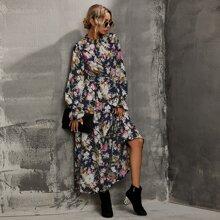 Rueschen Gebluemt Elegant Kleider