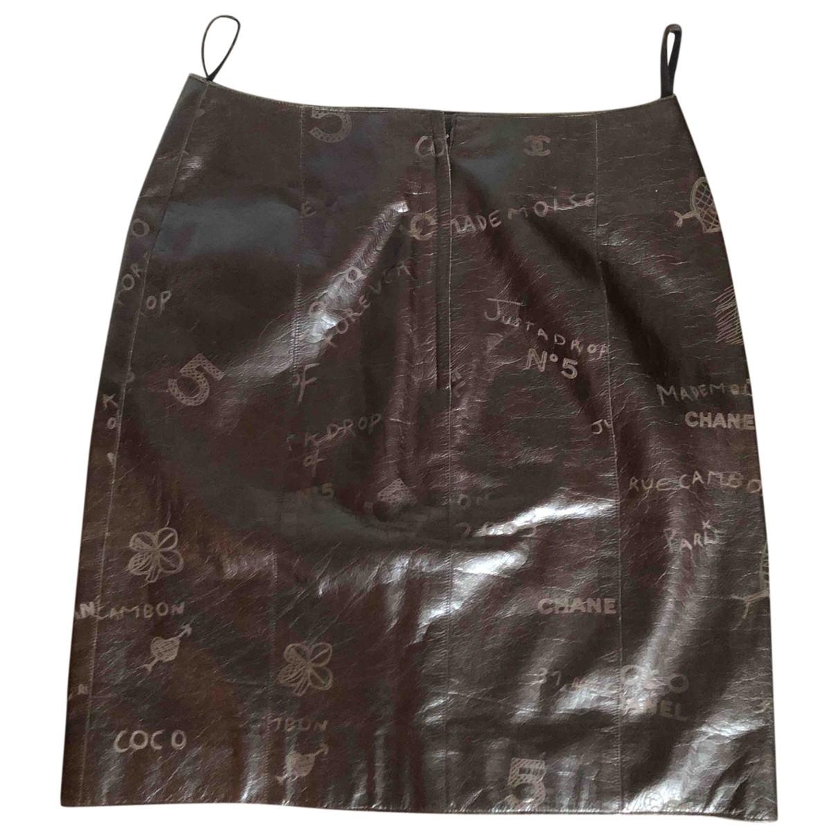 Chanel \N Leather skirt for Women 34 FR