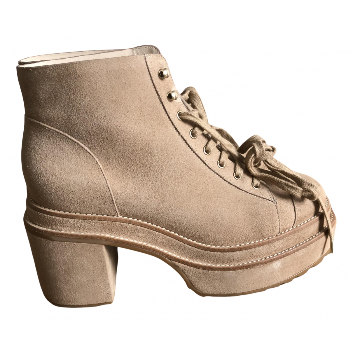 Cult Gaia N Beige Suede Ankle boots for Women 39 EU