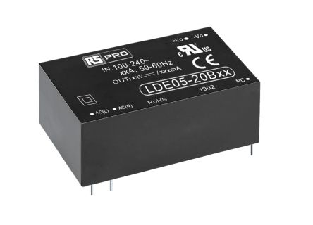 RS PRO , 5W Embedded Switch Mode Power Supply SMPS, 9V dc, Encapsulated