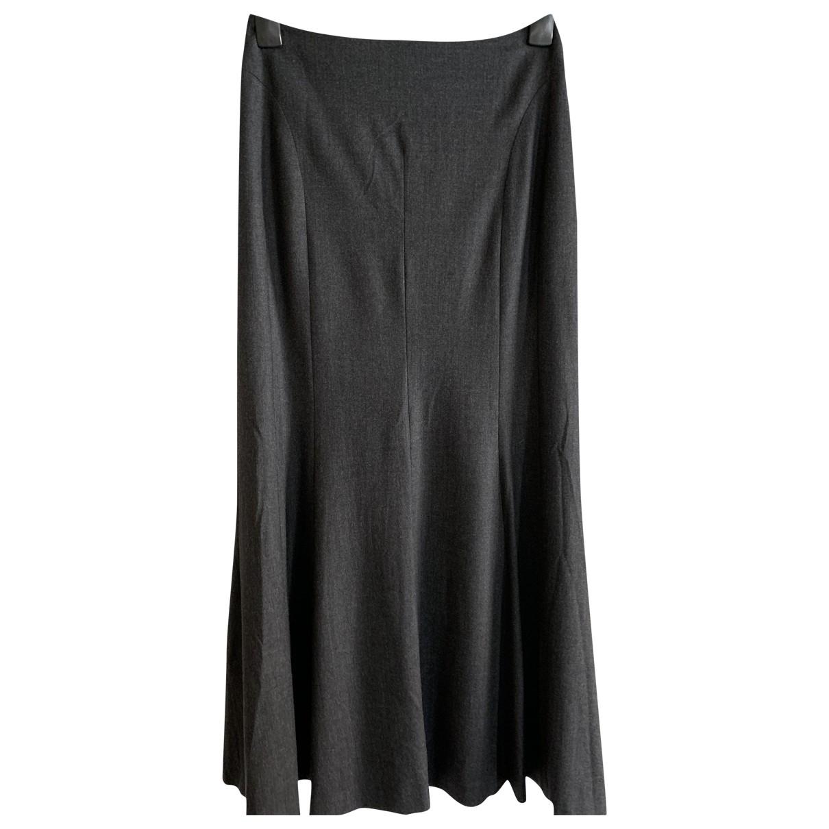 Windsor - Jupe   pour femme en laine - noir
