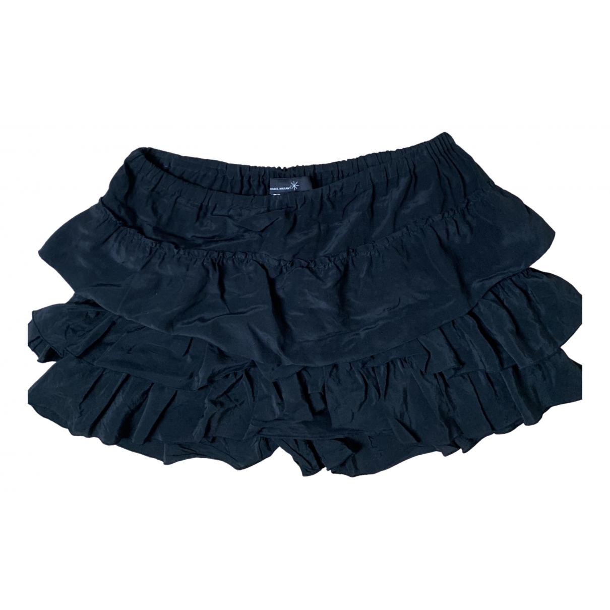 Isabel Marant \N Black Silk skirt for Women 36 FR