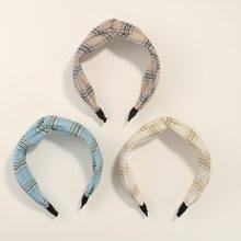 3 Stuecke gestreifte Muster Haarbuegel